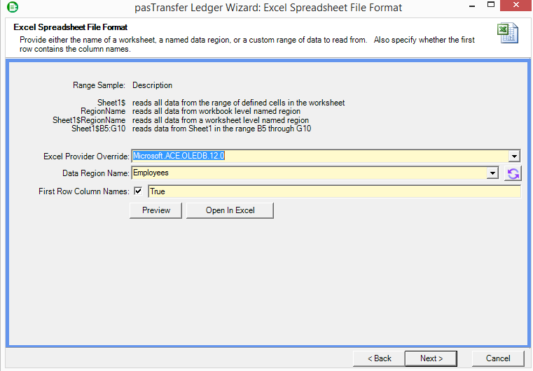 pasPortal: pasTransfer Universal Connections - Part 3 - Excel